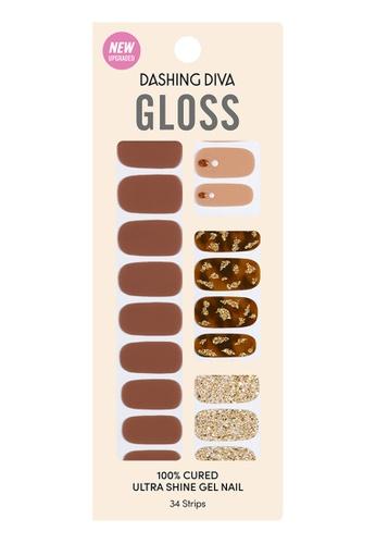 Dashing Diva brown Dashing Diva Gloss Gel Strip Manicure Toffeenut Latte /Nail Sticker /Nail Wraps 1EDB2BE292C939GS_1