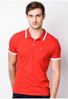 Double Tack Jersey Cut and Sew Body Enhancer Polo Tees