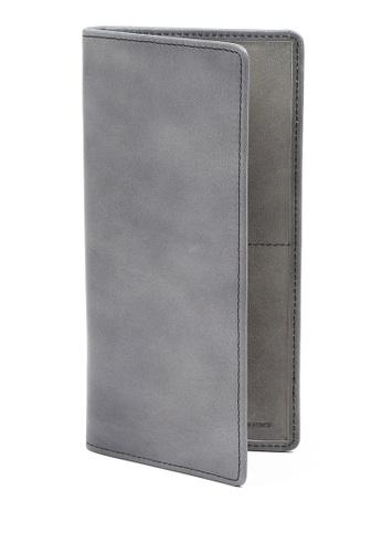 RABEANCO grey Bi-fold Long Wallet RA424AC60PXFHK_1