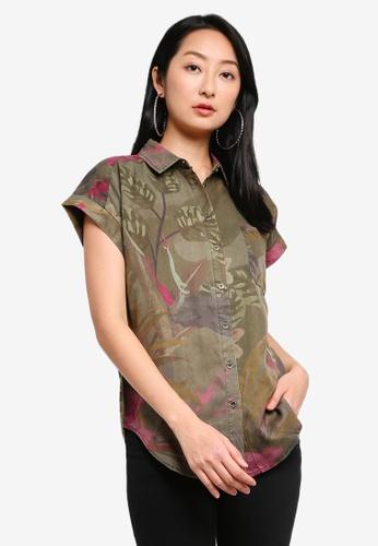 Desigual pink Tropical Printed Short Sleeves Shirt 4313EAA89FB72FGS_1