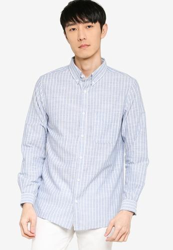 ZALORA BASICS multi Regular Button Down Linen Blend Shirt 19E2DAA748FA79GS_1