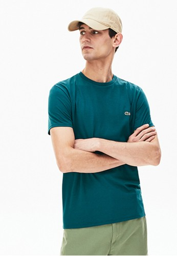 Lacoste green Men's Crew Neck Pima Cotton Jersey T-shirt DA74EAAC91AF1AGS_1