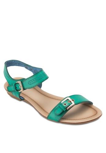 扣環esprit hk store沖孔繞踝涼鞋, 女鞋, 鞋