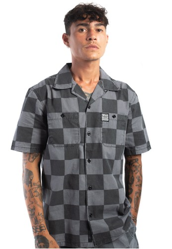 Deus Ex Machina black Senna Check Shirt C082FAA614A18FGS_1