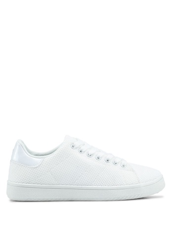 Rubi white Cathryn Knit Sneakers A07EDSH1D5D2CFGS_1