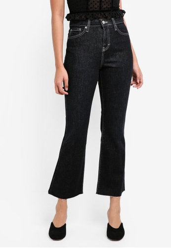 TOPSHOP black Moto Contrast Stitch Dree Jeans EFAB7AA4A60E74GS_1