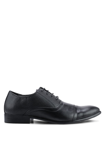 UniqTee black Textured Oxford Dress Shoes 1CF36SHC595DFDGS_1