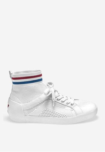 ASH white Nitendo - White Mesh Weaving Sneakers 8FA8ESH3206717GS_1