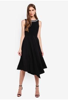 822d915ffed6 Wallis black Black Embellished Neck Dress 1B4C6AA9A3F237GS_1