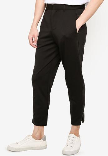 ZALORA BASICS black Zipped Hem Detailed Trousers 2D5BDAAFD08382GS_1