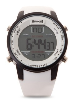 Quartz Digital Chronograph Watch SP-049 WHT