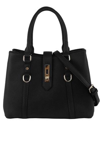 Mel&Co black Faux Leather Satchel 29CCAAC121AC16GS_1