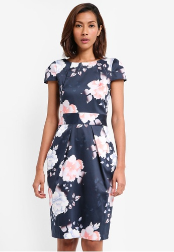 CLOSET navy Tulip Tie Back Dress 744E3AAD9B12DBGS_1