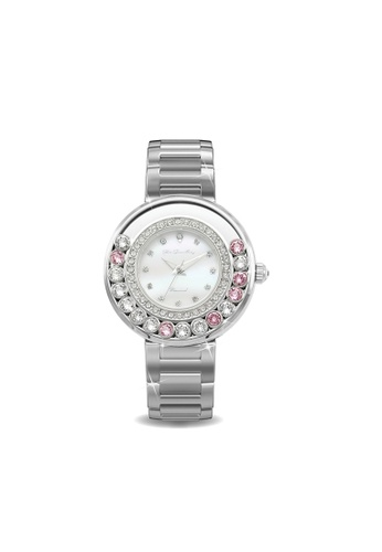 Her Jewellery pink Swarovski® Crystals - Glamour Watch (Pink) (18K White Gold Plated) Her Jewellery HE581AC0RDP5MY_1
