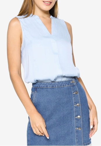 Banana Republic blue Sleeveless Essential Top D0BB9AAF31C283GS_1