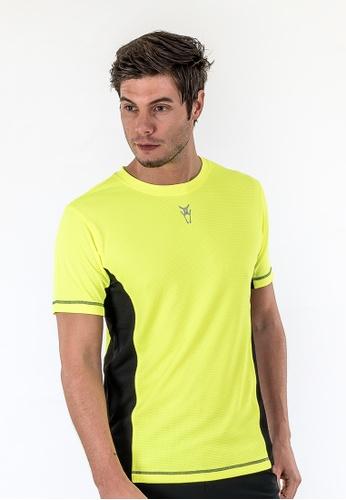 AMNIG yellow Amnig Men Pace Running Short Sleeve (Safety Yellow) AM133AA71DOQMY_1