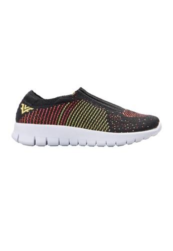 F-KNIT black Ladies Slip-On Colorful Pattern Sneaker FK273SH18XGNHK_1