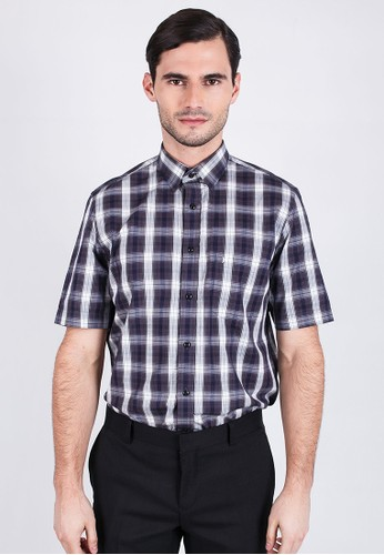 Johnwin black Johnwin -  Regular Fit - Formal Shirt - Black/Gray Gingham. 5548CAA1570376GS_1