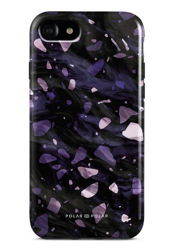 Polar Polar purple Lilac Terrazzo Gem Dual-Layer Tough Case Glossy For iPhone SE (2nd) / 8/7 ACFE6AC9C49961GS_1