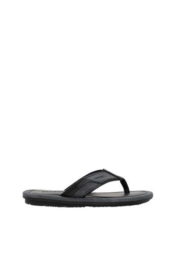 SEMBONIA black SEMBONIA Men Synthetic Leather Sandal (Black) SE598SH0SZ8TMY_1