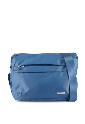 NUVEAU blue Lightweight Nylon Sling Bag 5BE50ACDB22D35GS_1