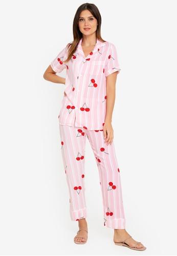 FEMINISM pink Cotton Short Sleeve Pj 7366EAA0263FF7GS_1