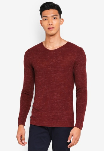Sisley 橘色 混色針織衫 48FF6AA1263189GS_1