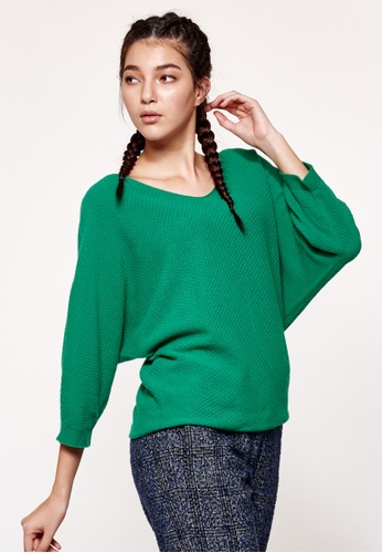 United Colors of Benetton green Boat-neck Knitted Sweater 02F16AA684F31AGS_1