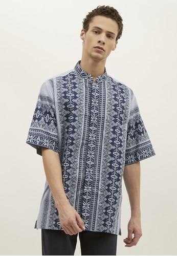 Woffi blue Almaty Koko Shirt A0FD4AA0A5279DGS_1