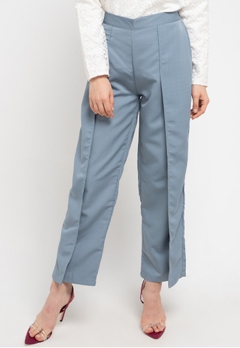 AZZAR grey Adalle Pants In Grey 0A22EAAEC6F68CGS_1