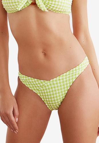 Trendyol green Textured V-Cut Bikini Bottom 2C7C5US50BF949GS_1
