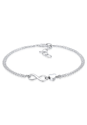 USA Seller Infinity Chain Bracelet Sterling Silver 925 Jewelry Rose Gold Plated