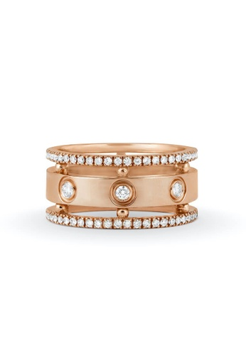 Aquae Jewels pink Ring Rich and Bold Queen, 18K Gold and Diamonds - Rose Gold A7A2EACBE50B5AGS_1