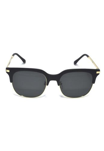 2i's to eyes black and gold Sunglasses Polarized│Black Color│Black Lens│UV400 Protection│2is PavoB 8F066GLE60E7DCGS_1