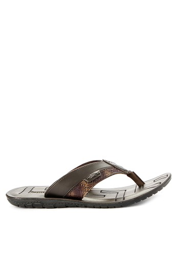 Homyped brown Arai 01 Men Sandals 36964SH0B3E65BGS_1