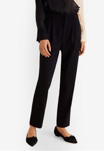 MANGO black Pleat Detail Trousers 99968AAE7A182AGS_1