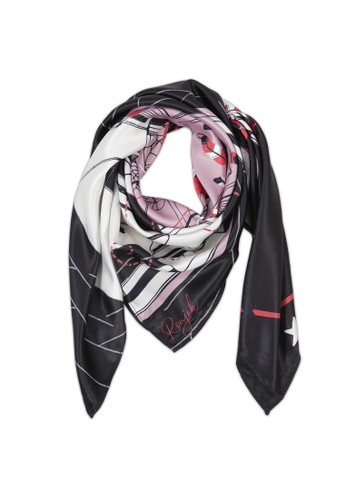 """ROUJAK black and red Place des Vosges - Neck Scarf """"Le Carre"""" 70 4B61BAA1F64082GS_1"""