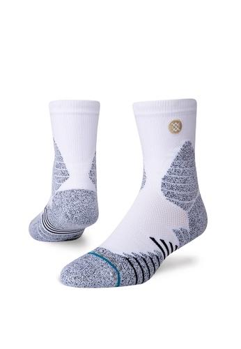 STANCE white STANCE Socks White Icon Hoops Qtr Medium 84E34AAF4BD19BGS_1