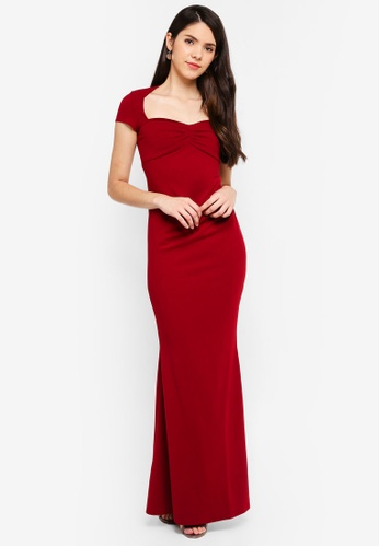 Goddiva red Sweetheart Neck Maxi Dress 10377AAEE56830GS_1