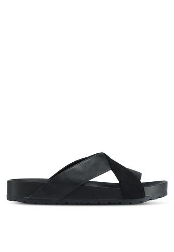 Bata black Bata Crossover Strap Sandals 7787DSHD3A3421GS_1