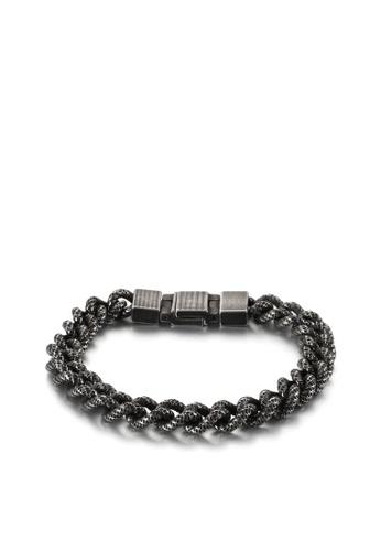 HAPPY FRIDAYS Wave Spot Titanium Steel Bracelet KL123280 9516BAC65FC792GS_1
