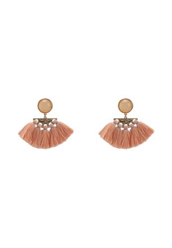 Mango orange Tassels Pendant Earrings AFF08ACFF67DA5GS_1