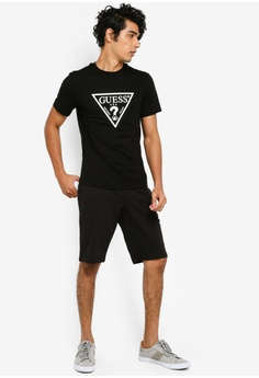 63428506a21566 Guess Classic Guess Triangle Logo Tee S$ 79.00. Sizes M L XL