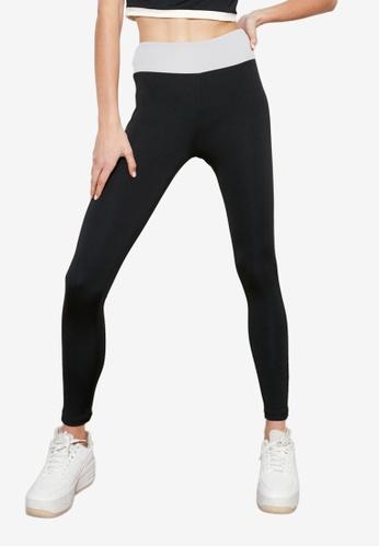Trendyol black Side Colorblock Sports Leggings 69D2CAA601F61DGS_1