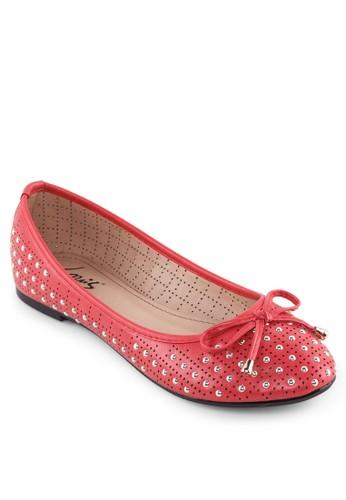 星星金飾蝴蝶結平底鞋,zalora 包包 ptt 女鞋, 鞋