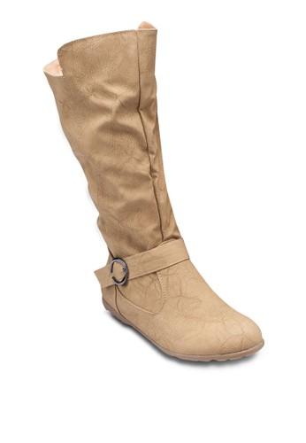 Sazalora 台灣門市rah 扣環踝帶高筒靴, 女鞋, 鞋