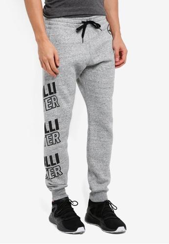 Hollister grey Printed Logo Sweatpants E3CFAAA4360D72GS_1