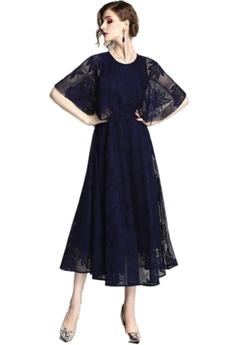 Sunnydaysweety blue New Blue Lace One Piece Dress A060816BL. 1D8A1AA9CAB6C7GS_1