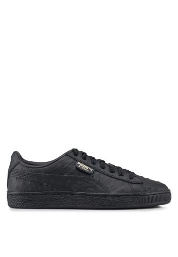 88e7beaae6cdf6 Puma Select black Basket Ostrich Shoes 0E243SH1767C78GS 1