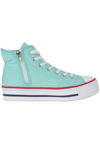 Maxstar green Maxstar Women's C30 Hidden Heel Platform Canvas High Top Sneakers US Women Size MA164SH32PTBSG_1